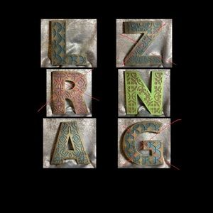 """R 12"""" Vintage Wooden Carved Wall Letters⚜️"""